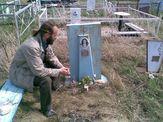 На могиле бабушки Вали, май 2009